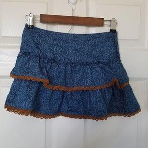 Lucky Brand Girl's Lace Overlap Mini Skirt Size 10